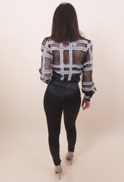 'LOUVRE' Mesh Chess Top