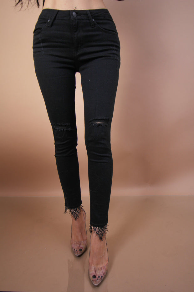 'IMAN' Lace Denim