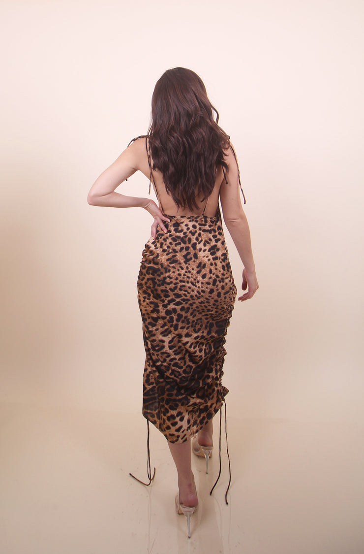 'AMBER' Adjustable Cheetah Dress