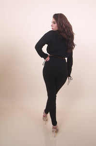 'ZEMI' Black Sweat Set