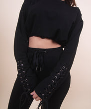 Load image into Gallery viewer, 'ZEMI' Black Sweat Set