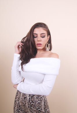 'SOFI' Off Shoulder Top - White