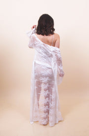 'JOSIE' White Lace Cover up