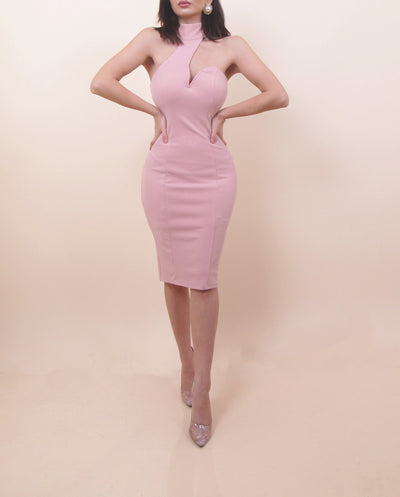 'MAKE ME BLUSH' High Neck Dress