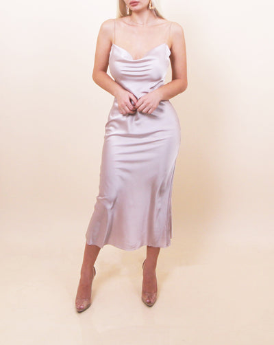 'ALIE' Satin Dress