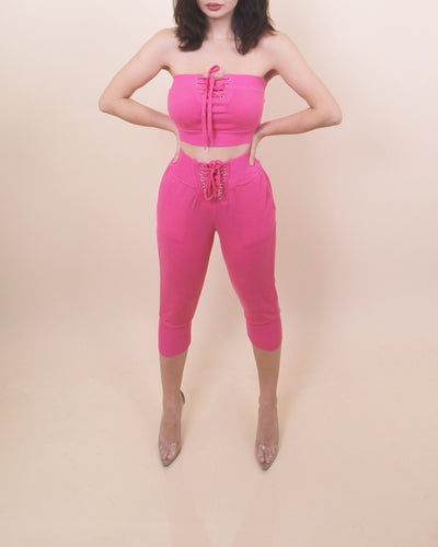 'HOT PINK' Two -Piece Sweat Set
