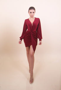 'CRISSY' Burgundy Dress