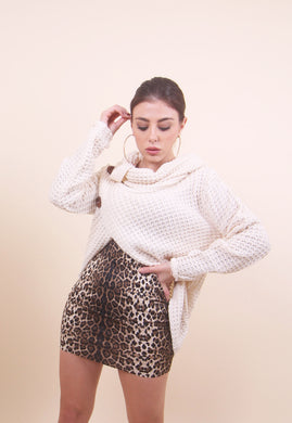 'ANGIE' Nude Buttoned Sweater