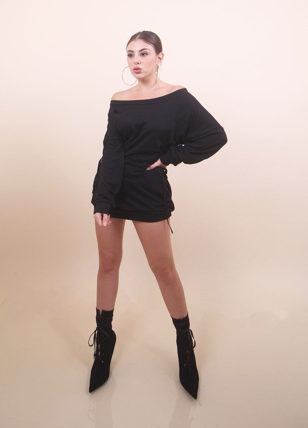 Black - 'KELLY' Sweater Dress