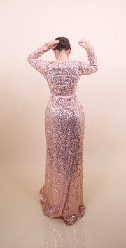 'KRISTI' Sequin Gown