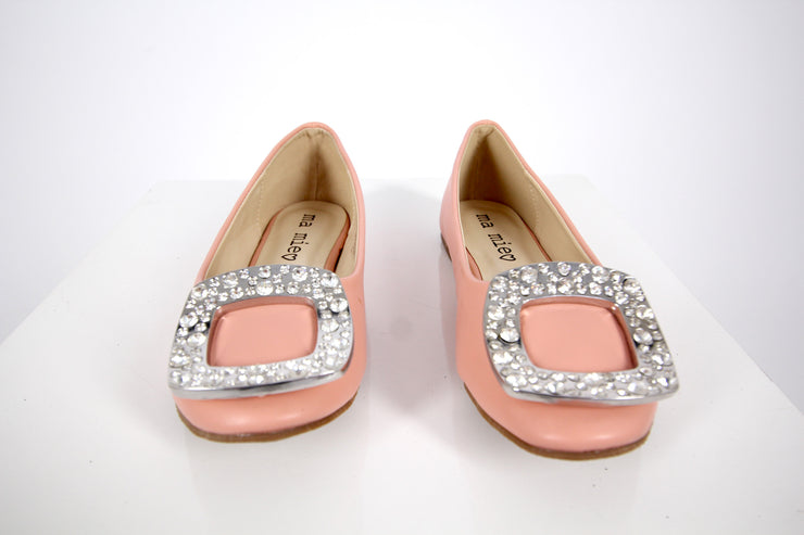 Peach Leather Flats - Donnée Par Dieu Studio Boutique  - 2