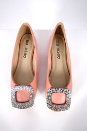 Peach Leather Flats - Donnée Par Dieu Studio Boutique  - 3