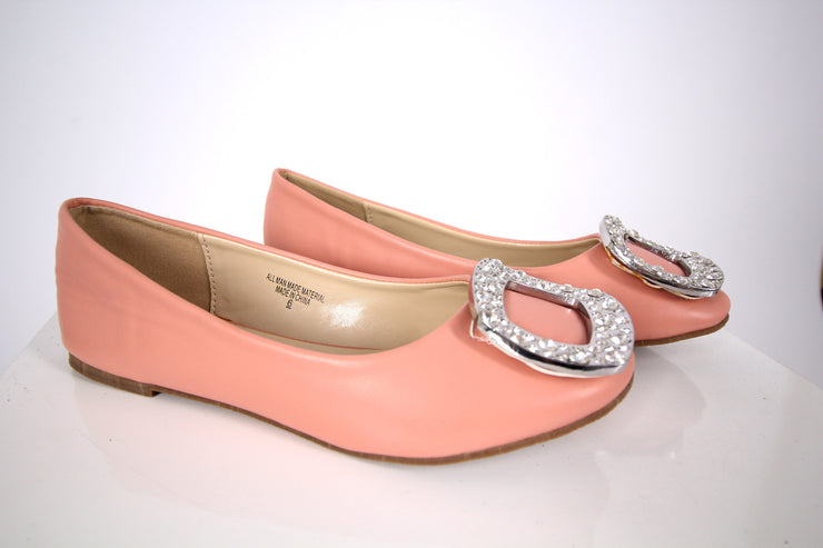 Peach Leather Flats - Donnée Par Dieu Studio Boutique  - 1