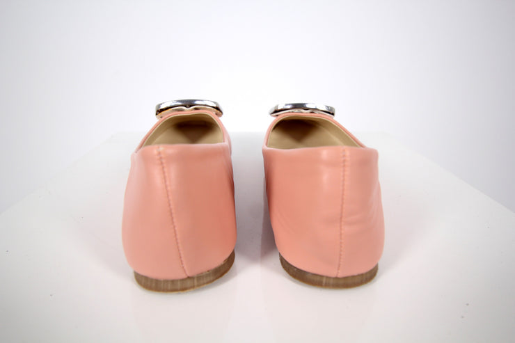 Peach Leather Flats - Donnée Par Dieu Studio Boutique  - 4