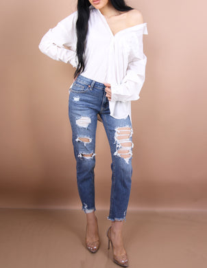 'BELLA' Distressed Boyfriend Jeans