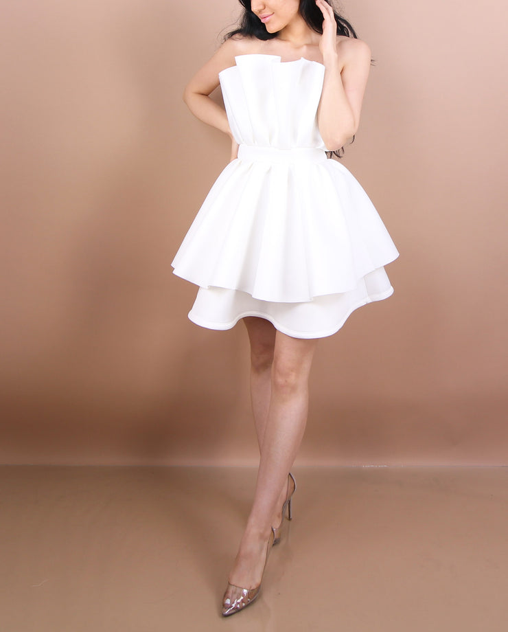 White - 'CUP CAKE' Dress