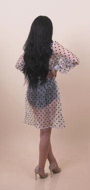 'ELION' Polka Dot Cover up