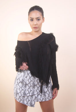 'BUSY' Fringe Sweater