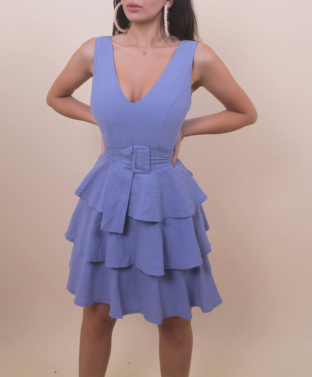 'COTTON CANDY' Summer Dress in Blue