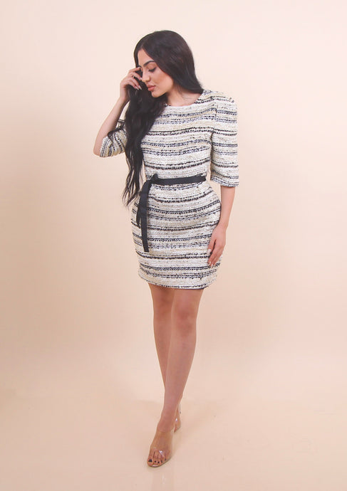 'TIANA' Tweed X Metallic Dress