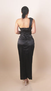 'LORENA' Satin Maxi Dress