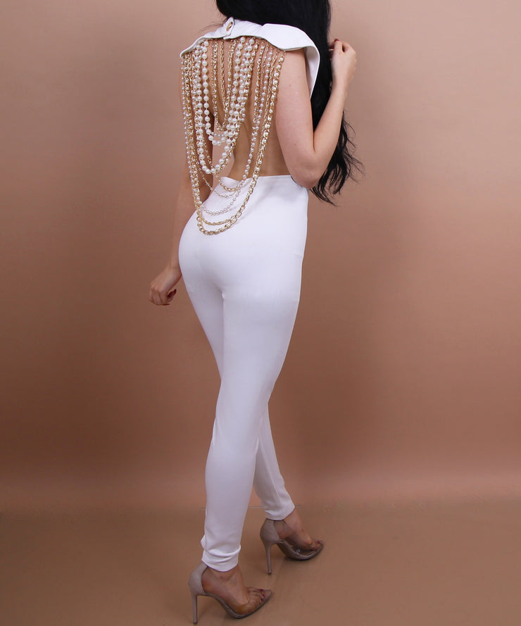 'PEARLS x CHAINS' Jumpsuit