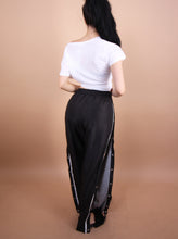 Load image into Gallery viewer, Black - 'KELLY' Striped/Button Pants