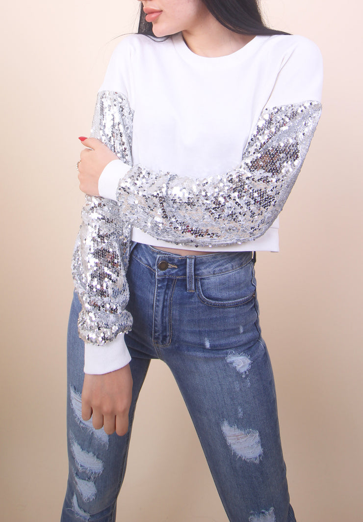 'TRINA' Sequin Detail Top