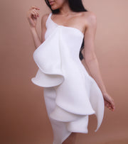 White - 'ORCHID' Dress