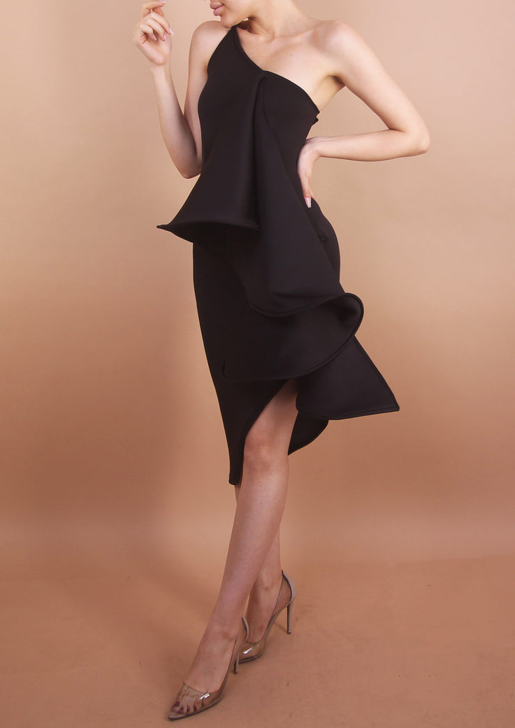 Black - 'ORCHID' Dress