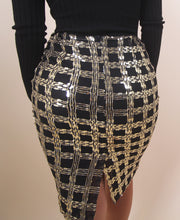 Load image into Gallery viewer, 'DELILAH' Sequin Skirt - Black&Gold