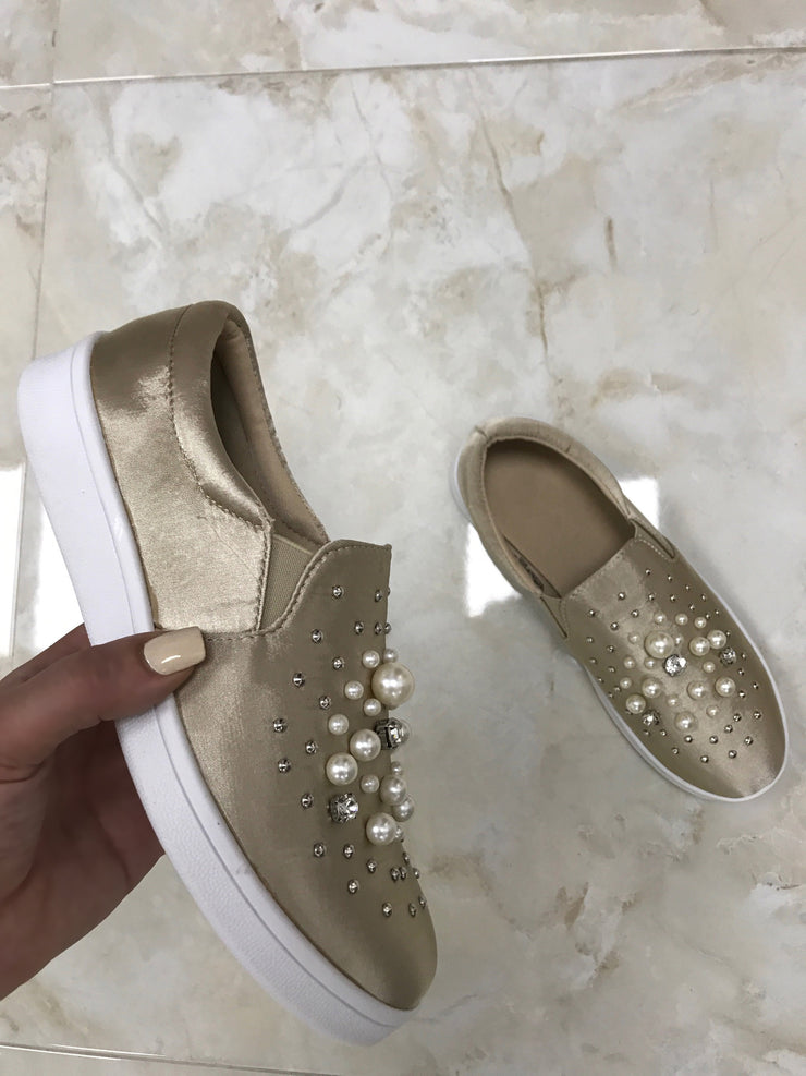 Pearly Slip-Ons