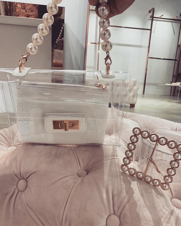 'CLASSY BUT SASSY' Two Piece Clear Clutch