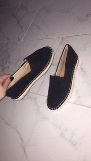 SUEDE CANVAS FLATS