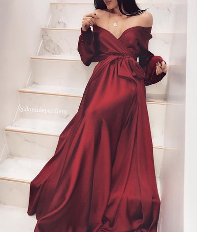 RED - 'DREAM' Satin Gown