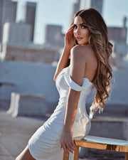 'SANDY' Corset Dress in White