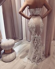 'DANICA' SkirtXTop | Lace Detailed Two-Piece Set