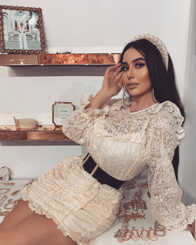 'MARIANA' Lace Dolly Dress | Belt Comes Separately