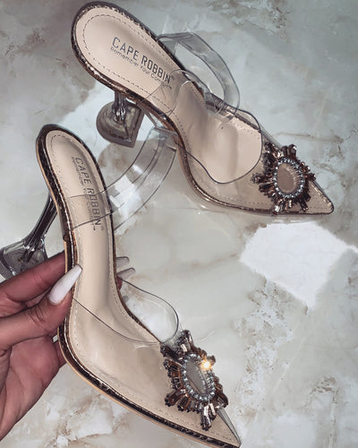 'CINDERELLA' Heels In ROSE GOLD