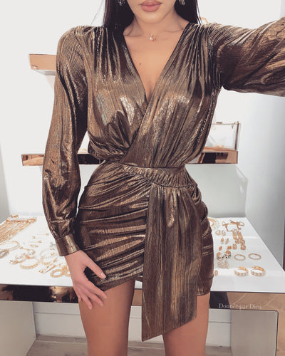 'ROSSIO' Metallic Dress