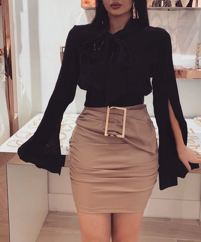 """DANIA"" Leather Skirt 