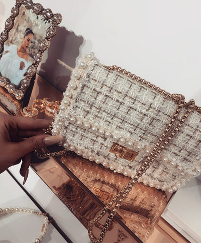 'SOPHIE' Pearl Clutch