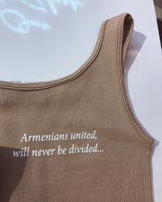 'ARMENIANS UNITED, WILL NEVER BE DIVIDED' Bodysuit