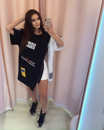 'ANGELES' Oversized Tshirt Dress