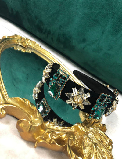 'CLEMENCE' Emerald Headband