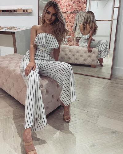 'ANNIE' Striped Summer Jumpsuit