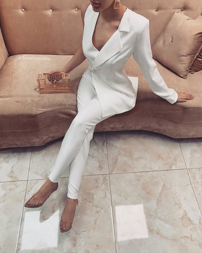 'ALAYA' Jumpsuit - White