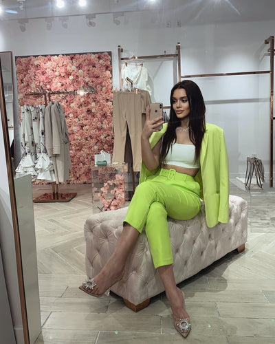 'HEATHER' Neon Green Pants