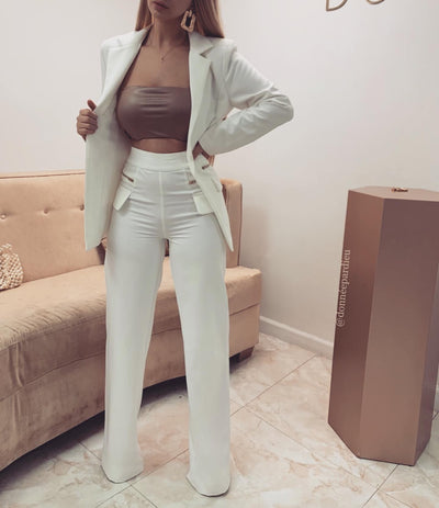 'SIMONE' Zipper Blazer and Pants Set