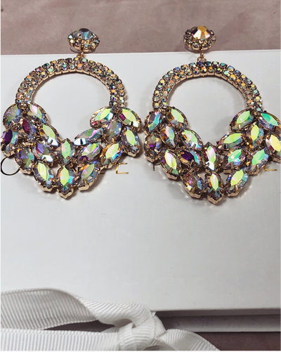 'EVA' Holographic Detailed Earrings